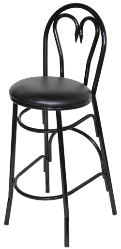 Heart Metal Bar Stool