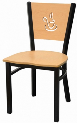 Interchangeable Coffee Back Metal Chair