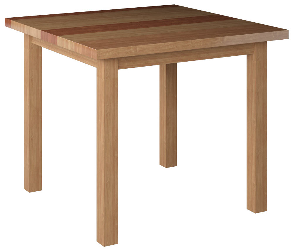solid wood plank table top with legs