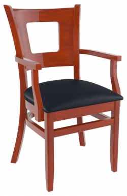 Premium US Made Duna Wood Chair With Arms