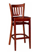 Vertical Slat Wood Bar Stool