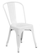 White Bistro Style Metal Chair