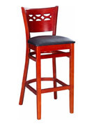 Leonardo Wood Bar Stool