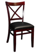 Beechwood X Back Restaurant Chair