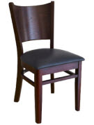 Beechwood Curved Plain Back Restaurant Chair