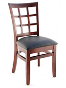 Premium Window Back Wood Chair