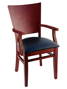 Tiffany Wood Restaurant Chair With Arms