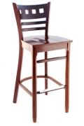 Premium US Made American Back Wood Bar Stool