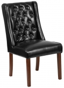 Extra Wide Button Tufted Parsons Chair