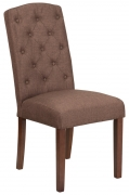 Fabric Tufted Parsons Chair