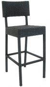 Aluminum Patio Bar Stool with Faux Wicker