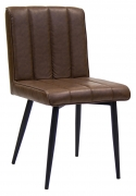 Erada Brown Vinyl Chair