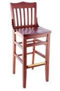 Premium US Made School House Wood Bar Stool