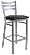 3 Slat Metal Ladder Back Bar Stool
