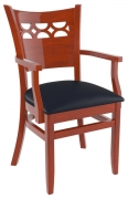 Premium US Made Leonardo Wood Chair With Arms
