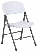 Metal Folding Chair with Plastic Seat & Back