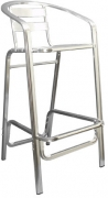 Double Tube Aluminum Patio Bar Stool