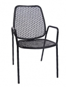 Floral Patio Chair with Armrest