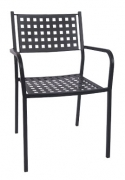 Matrix Back Patio Chair with Armrest