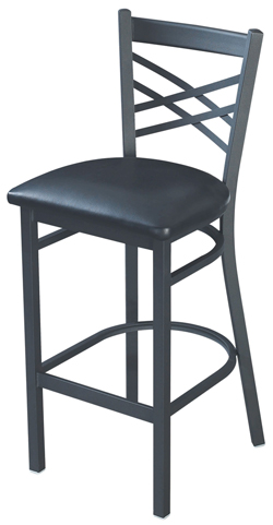 X Back Metal Bar Stool