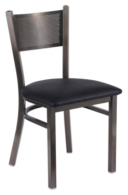Clear Coat Checker Back Metal Chair