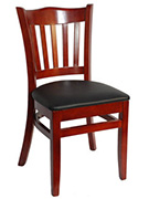 Crown Back Wood Restaurant Chair