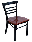 Rounded Ladder Back Metal Chair