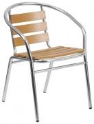 Economy Aluminum & Faux Teak Patio Chair