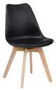 Black Nordic Style Wood Chair