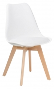 White Nordic Style Wood Chair