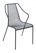 Modern Metal Mesh Patio Arm Chair