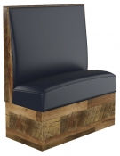 SH Reclaimed Style Plain Back Booth