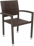 Aluminum Poly Woven Patio Arm Chair