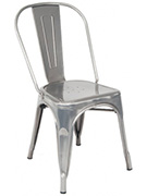 Bistro Style Metal Chair in Clear Finish