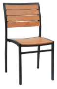 Black Heavy Duty Plastic Teak Patio Chair