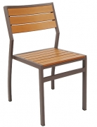 Modern Aluminum Patio Chair with Plastic Teak