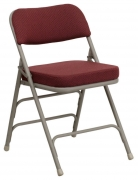 Premium Curved Triple Braced Metal Folding Chair