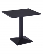 Outdoor Metal Table in Black Finish