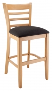 Premium US Made Ladder Back Wood Counter Stool