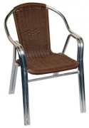 Natural Rattan Aluminum Patio Chair